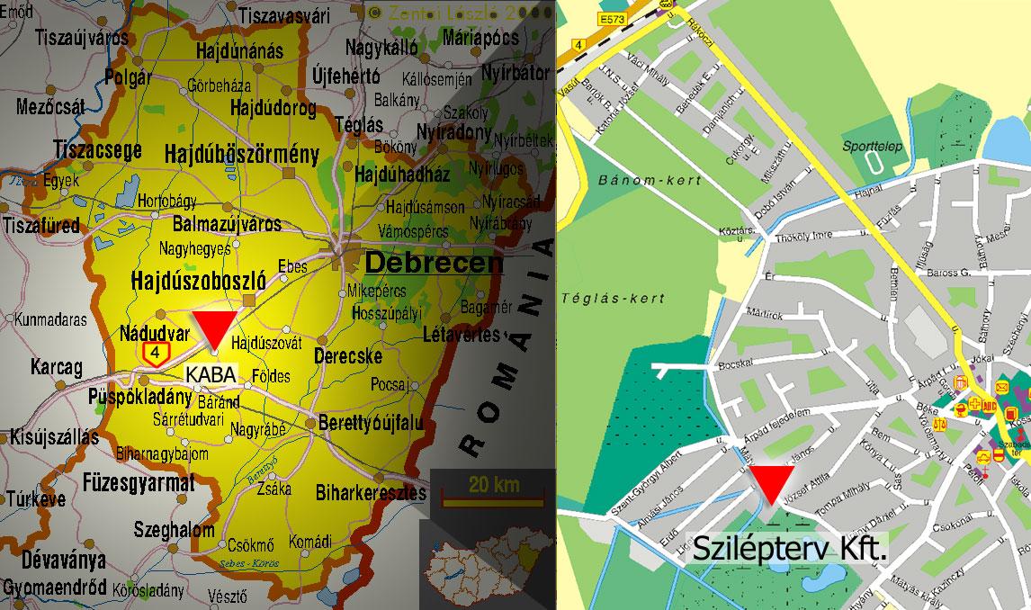 kaba térkép Szilépterv Kaba ۞ Kivitelezés Építés Generál kivitelezés  kaba térkép
